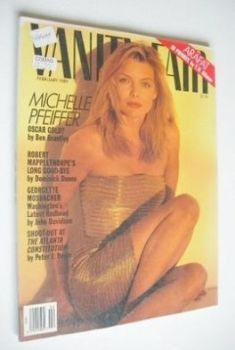 US Vanity Fair magazine - Michelle Pfeiffer cover (February 1989)