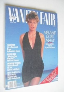US Vanity Fair magazine - Melanie Griffith cover (April 1989)
