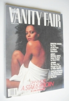 US Vanity Fair magazine - Diana Ross cover (March 1989)