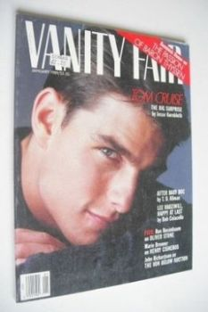 US Vanity Fair magazine - Tom Cruise cover (January 1989)