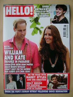<!--2013-02-25-->Hello! magazine - Prince William and Kate Middleton cover