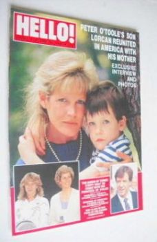 <!--1988-06-18-->Hello! magazine - Karen Somerville and Lorcan O'Toole cover (18 June 1988 - Issue 5)