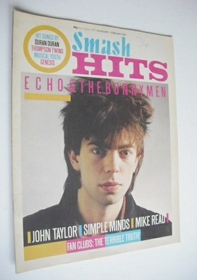 <!--1984-01-19-->Smash Hits magazine - Ian McCulloch cover (19 January - 1