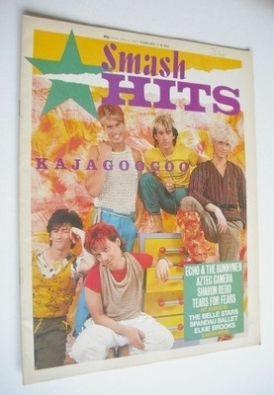 <!--1983-02-03-->Smash Hits magazine - Kajagoogoo cover (3-16 February 1983