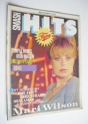 <!--1982-09-16-->Smash Hits magazine - Mari Wilson cover (16-29 September 1