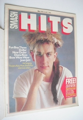 <!--1982-06-24-->Smash Hits magazine - Terry Hall cover (24 June - 7 July 1