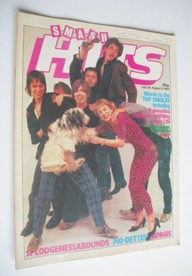 <!--1980-07-24-->Smash Hits magazine - Splodgenessabounds cover (24 July -