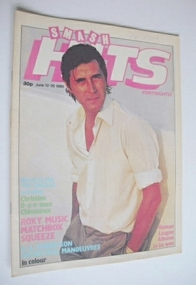 <!--1980-06-12-->Smash Hits magazine - Bryan Ferry cover (12-25 June 1980)