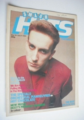 <!--1980-05-29-->Smash Hits magazine - Terry Hall cover (29 May - 11 June 1