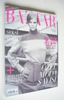 Harper's Bazaar Turkey magazine - September 2012 - Marloes Horst cover
