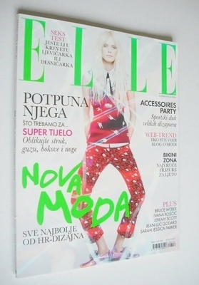 <!--2010-05-->Elle Croatia magazine - May 2010 - Dewi Driegen cover