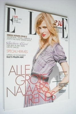 <!--2006-08-->Netherlands Elle magazine - August 2006 - Lara Stone cover
