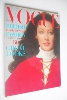 British Vogue magazine - 15 March 1970 - Moyra Swan cover