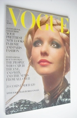 <!--1970-03-01-->British Vogue magazine - 1 March 1970 - Maudie James cover