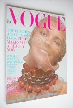 British Vogue magazine - February 1970 - Maudie James cover