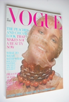 <!--1970-02-->British Vogue magazine - February 1970 - Maudie James cover