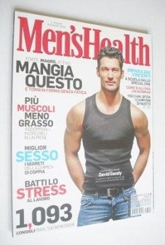 Italian Men's Health magazine - March 2011 - David Gandy cover