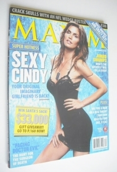 <!--2005-12-->MAXIM magazine - Cindy Crawford cover (December 2005 - US Edition)