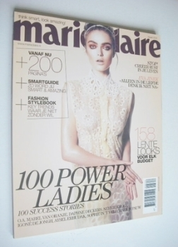 Netherlands Marie Claire magazine - March 2012 - Sophie Vlaming cover