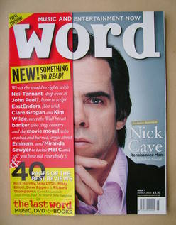 The Word magazine - Nick Cave cover (March 2003 - Issue 1)