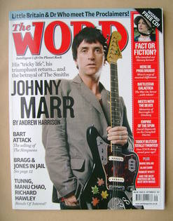 The Word magazine - Johnny Marr cover (September 2007)