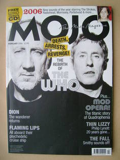 <!--2006-02-->MOJO magazine - Pete Townshend and Roger Daltrey cover (Febru