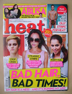 <!--2010-09-18-->Heat magazine - Bad Hair, Bad Times! cover (18-24 Septembe