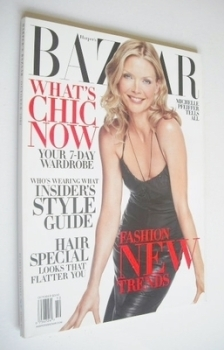 Harper's Bazaar magazine - October 2002 - Michelle Pfeiffer cover