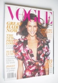 Australian Vogue magazine - May 2006 - Erin Wasson cover