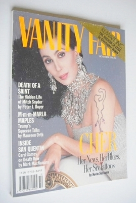 <!--1990-11-->Vanity Fair magazine - Cher cover (November 1990)