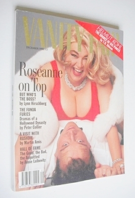<!--1990-12-->US Vanity Fair magazine - Roseanne Barr and Tom Arnold cover