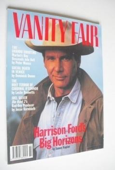 US Vanity Fair magazine - Harrison Ford cover (August 1990)