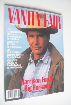 <!--1990-08-->US Vanity Fair magazine - Harrison Ford cover (August 1990)