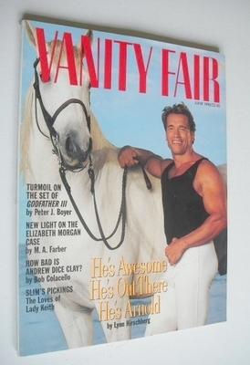 <!--1990-06-->US Vanity Fair magazine - Arnold Schwarzenegger cover (June 1