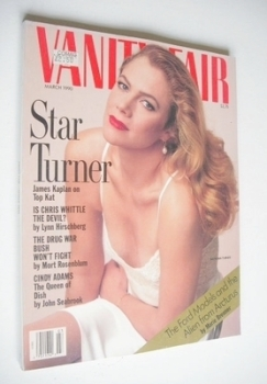US Vanity Fair magazine - Kathleen Turner cover (March 1990)