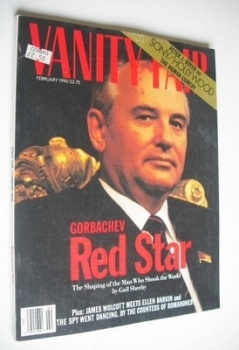 US Vanity Fair magazine - Mikhail Gorbachev cover (February 1990)