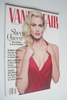 US Vanity Fair magazine - Daryl Hannah cover (January 1990)