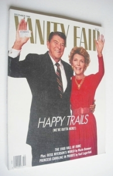 US Vanity Fair magazine - Ronald Reagan and Nancy Reagan cover (December 1988)