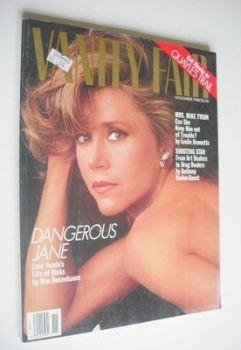 US Vanity Fair magazine - Jane Fonda cover (November 1988)
