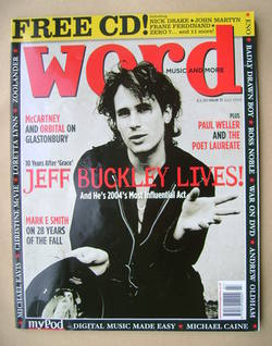 The Word magazine - Jeff Buckley cover (July 2004)