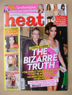 <!--2010-09-25-->Heat magazine - Cheryl Cole and Derek Hough cover (25 Sept