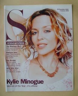 <!--2002-12-29-->Sunday Express magazine - 29 December 2002-4 January 2003 - Kylie Minogue cover