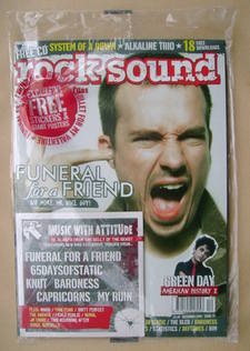 Rock Sound magazine - Funeral For A Friend cover (December 2005)