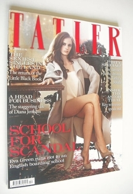 <!--2009-12-->Tatler magazine - December 2009 - Eva Green cover