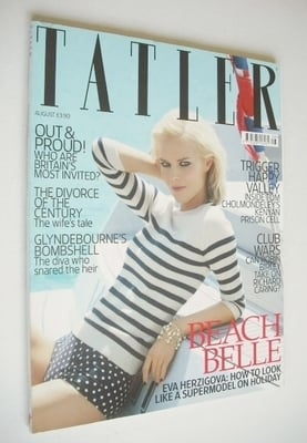 <!--2009-08-->Tatler magazine - August 2009 - Eva Herzigova cover
