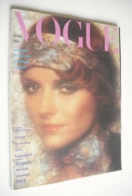 <!--1975-06-->British Vogue magazine - June 1975 - Cheryl Tiegs cover