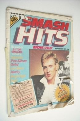 <!--1978-09-->Smash Hits magazine - Plastic Bertrand cover (September 1978