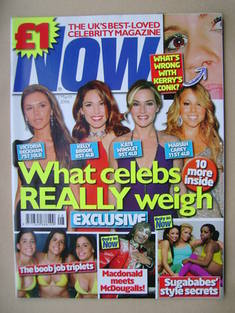 Now magazine - What Celebs Really Weigh cover (1 March 2006)