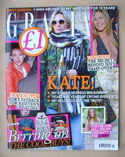 <!--2012-11-12-->Grazia magazine - Kate Moss cover (12 November 2012)