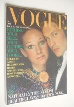 British Vogue magazine - July 1970 - Marisa Berenson and Helmut Berger cover